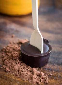 Dark hot chocolate meltdown artisan